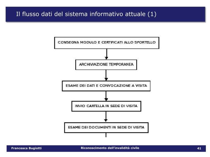 Il flusso dati del sistema informativo attuale (1)