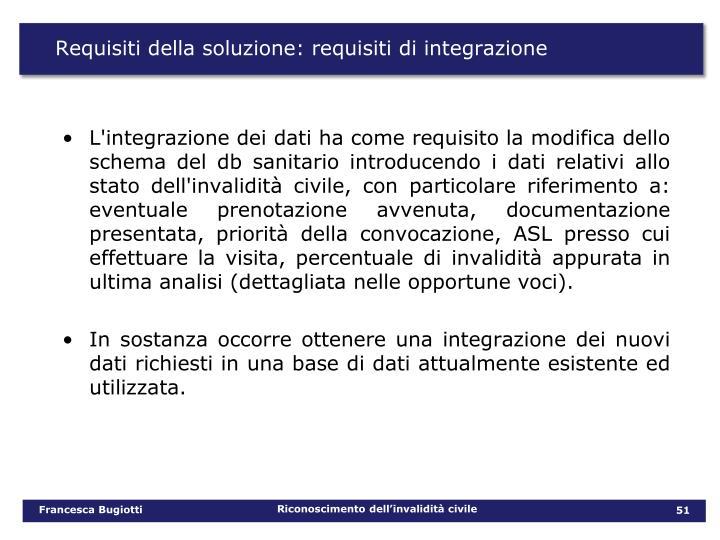 Requisiti della soluzione: requisiti di integrazione