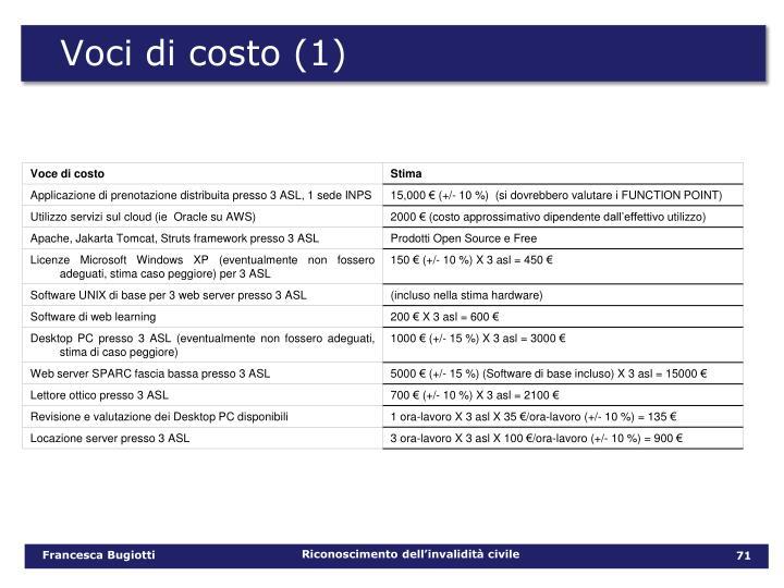 Voci di costo (1)