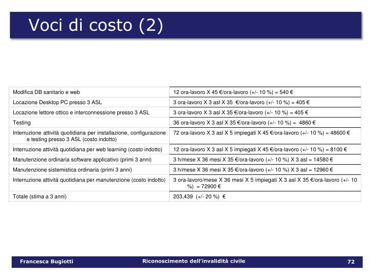 Voci di costo (2)