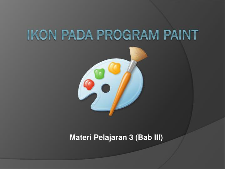 Ikon pada program paint