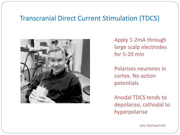Transcranial Direct Current Stimulation (TDCS)