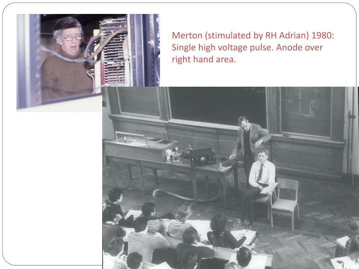 Merton (stimulated by RH Adrian) 1980: