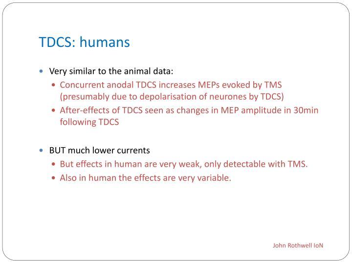 TDCS: humans
