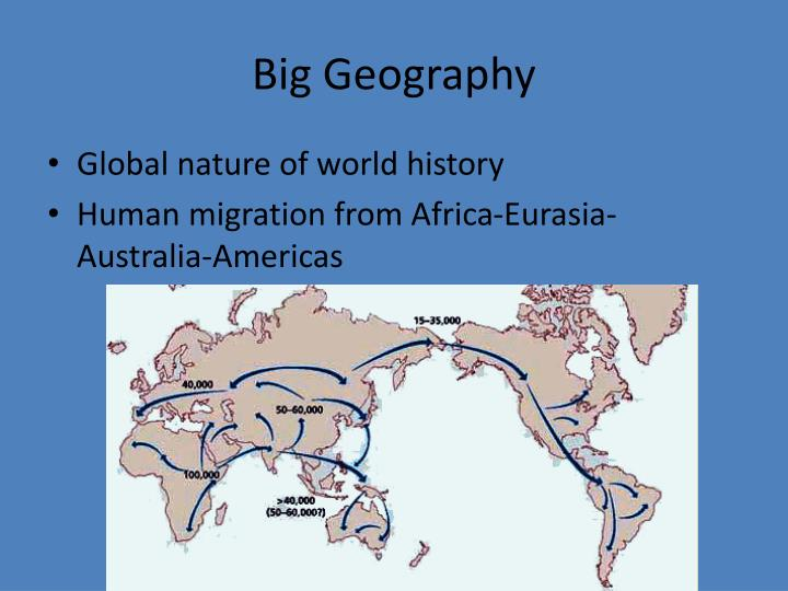 Big geography