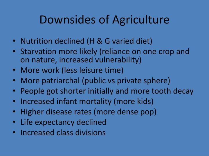 Downsides of Agriculture