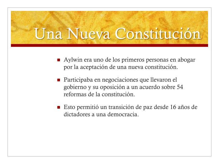 Una Nueva Constituci