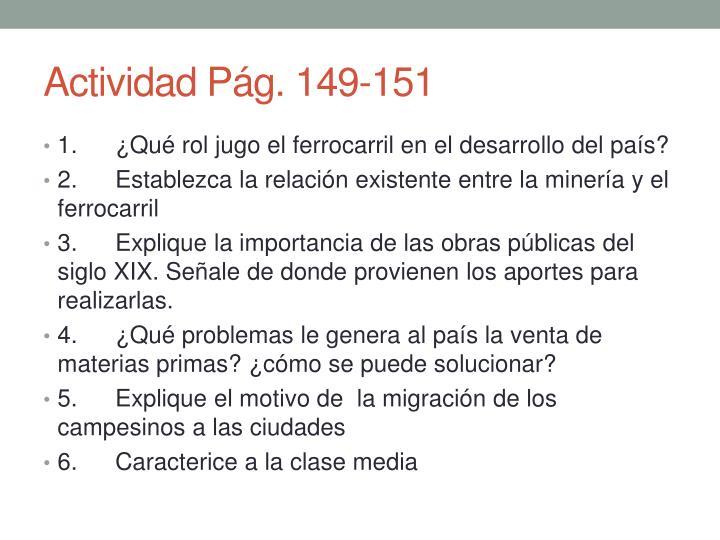 Actividad Pág. 149-151