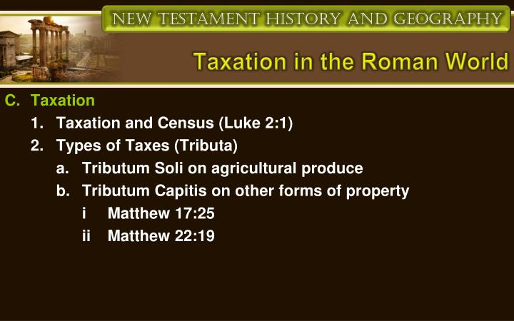 Taxation in the Roman World