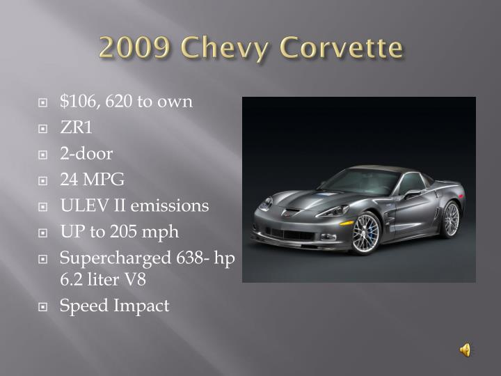 2009 Chevy Corvette