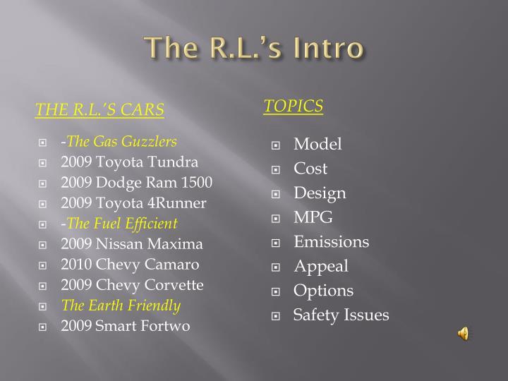 The R.L.'s Intro