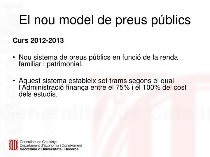 El nou model de preus públics