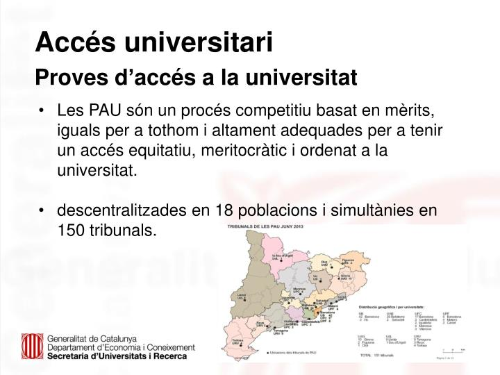 Accés universitari