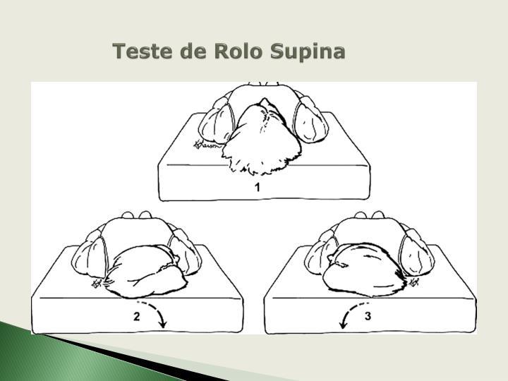 Teste de Rolo Supina