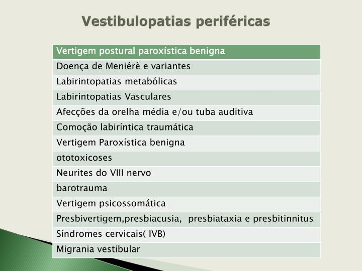 Vestibulopatias periféricas