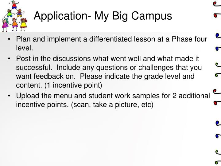 Application- My Big Campus