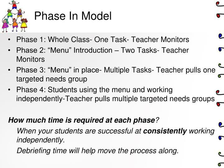 Phase In Model