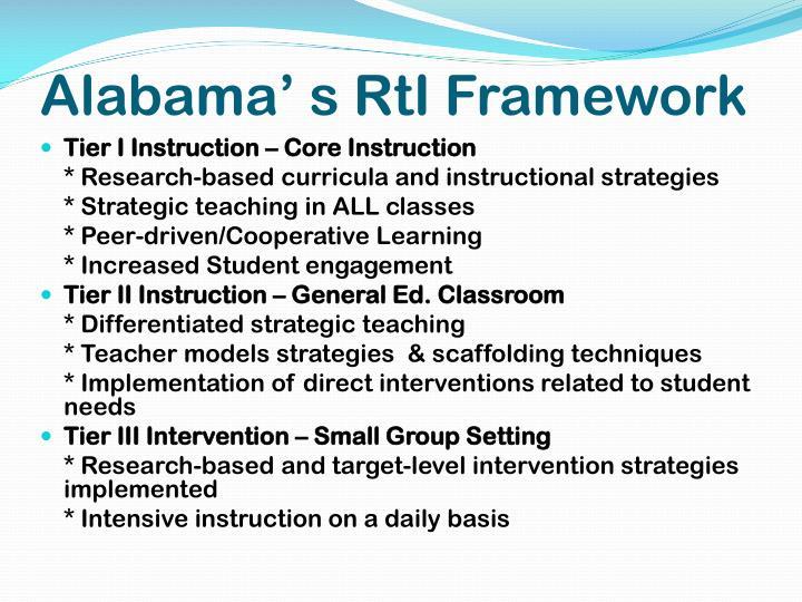 Alabama' s RtI Framework