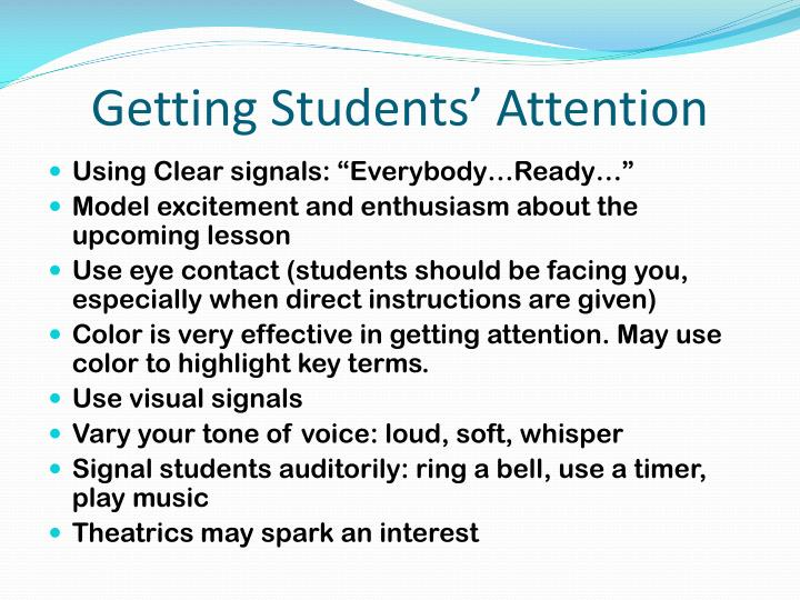 Getting Students' Attention
