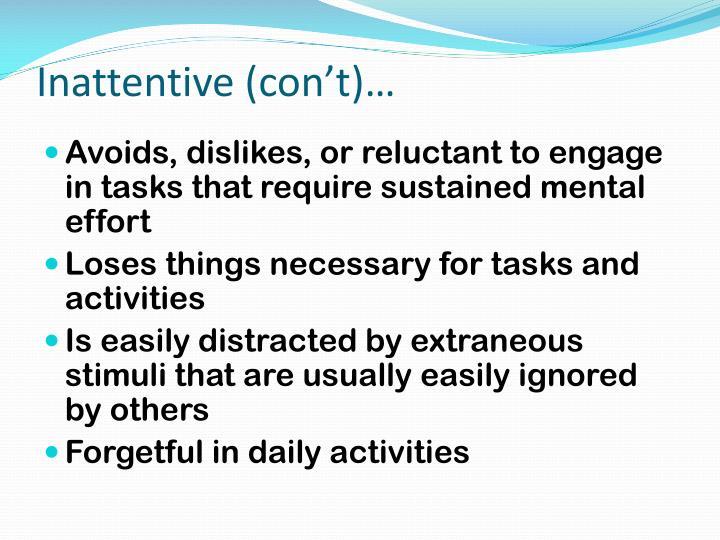 Inattentive (