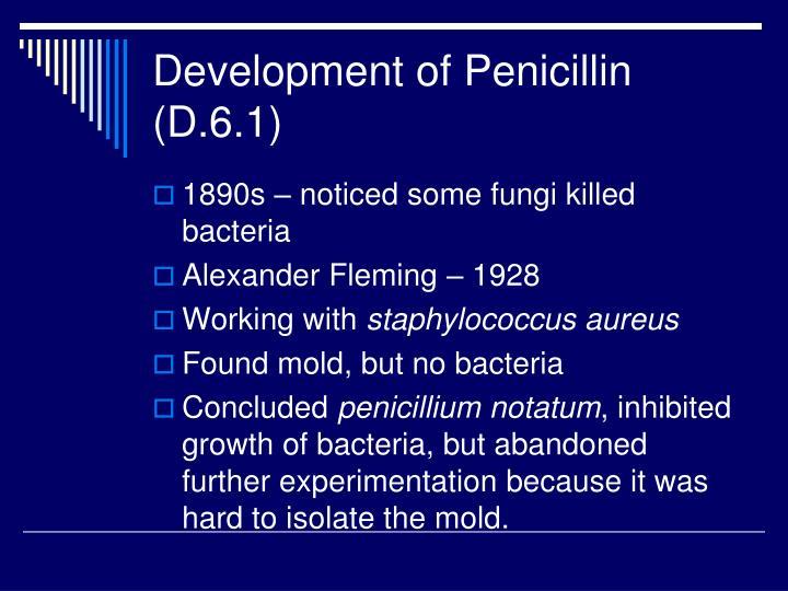 Development of Penicillin