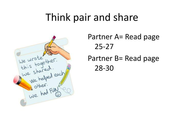 Think pair and share