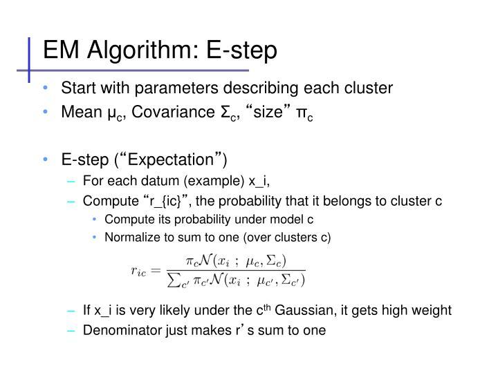EM Algorithm: E-step