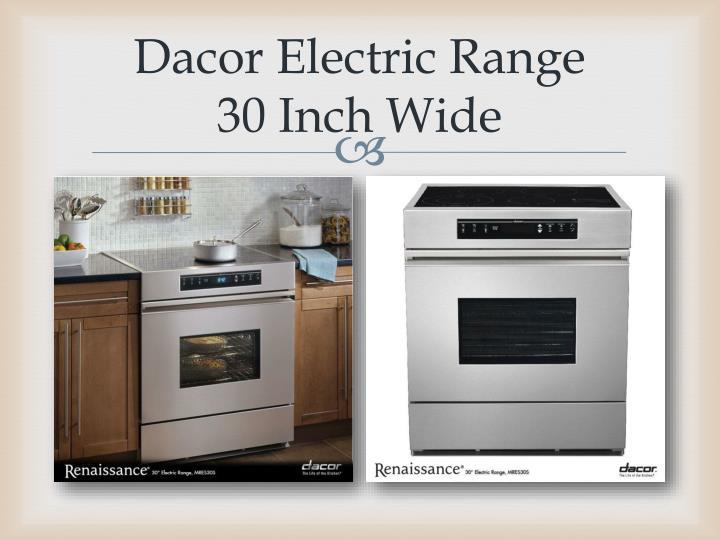 Dacor Electric Range