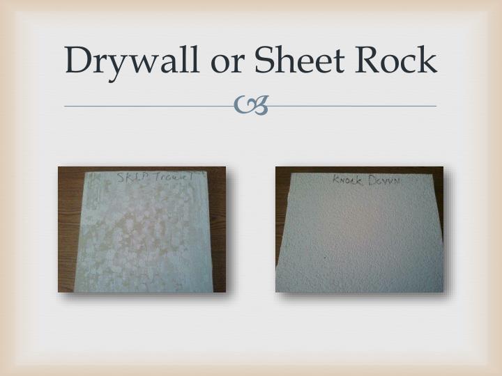 Drywall or Sheet Rock
