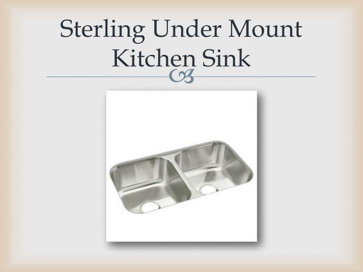 Sterling Under Mount