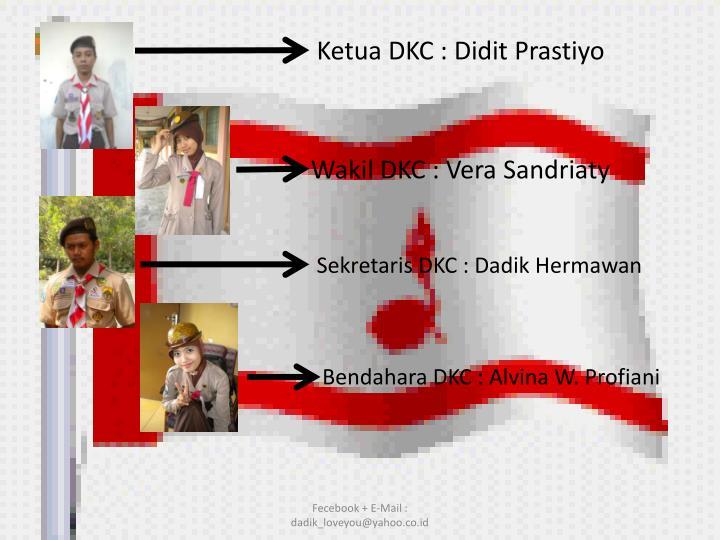 Ketua DKC : Didit Prastiyo