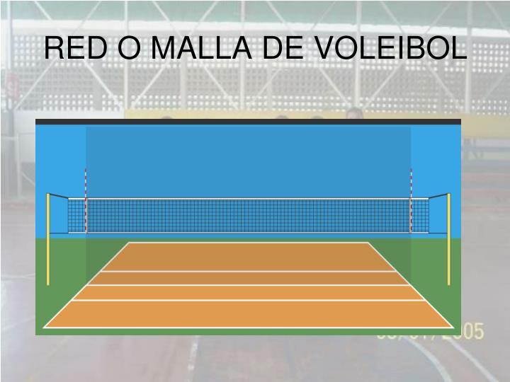 RED O MALLA DE VOLEIBOL