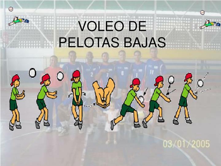 VOLEO DE PELOTAS BAJAS