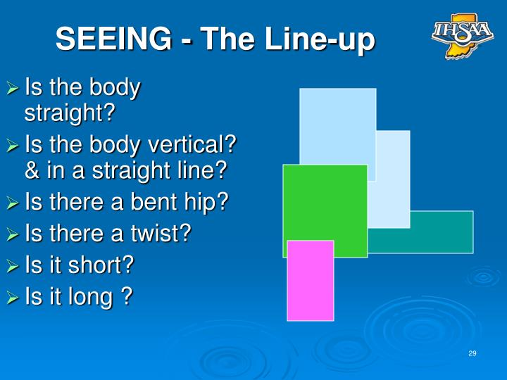 SEEING - The Line-up