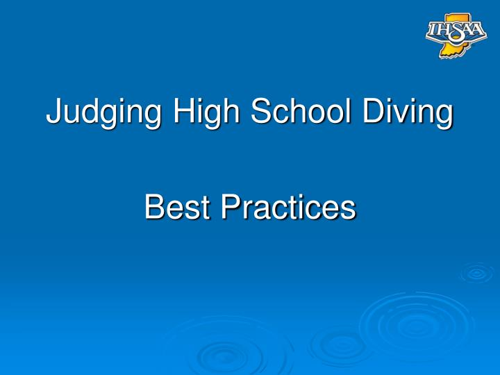 Judging High School Diving