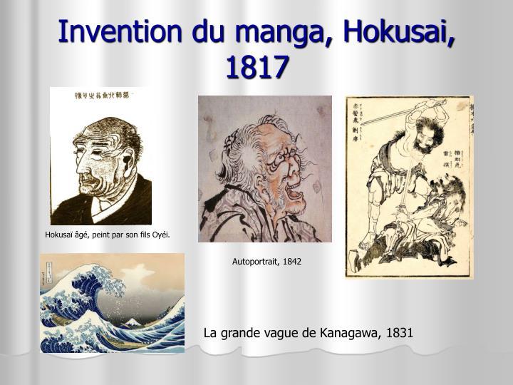 Invention du manga, Hokusai, 1817