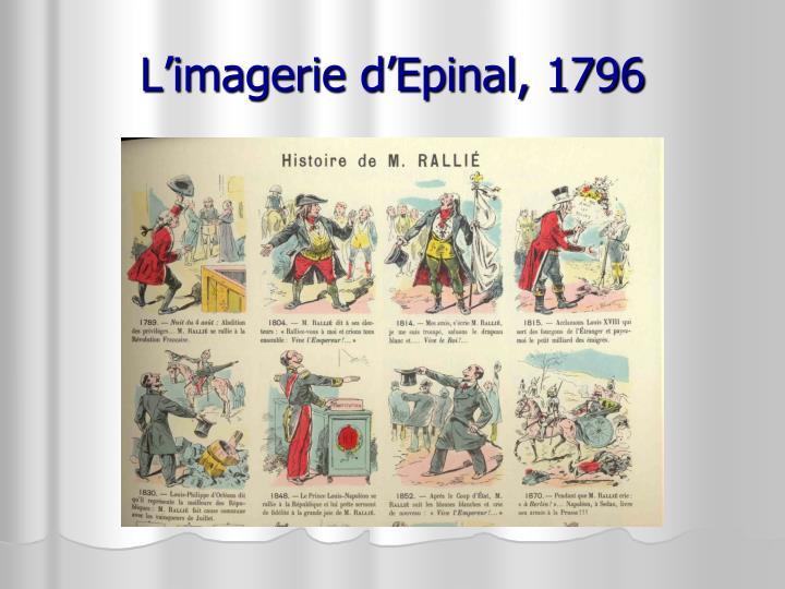 L'imagerie d'Epinal, 1796