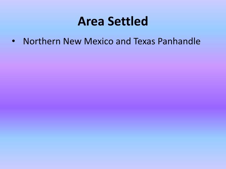 Area Settled