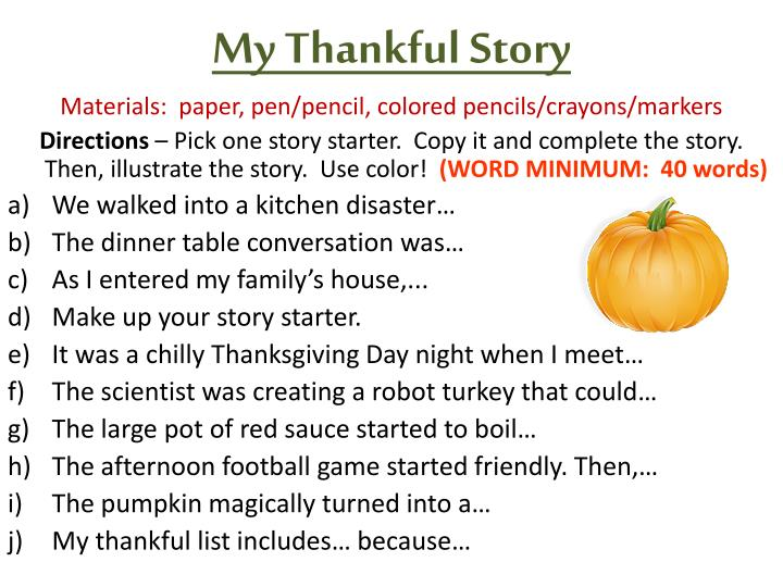 My Thankful Story