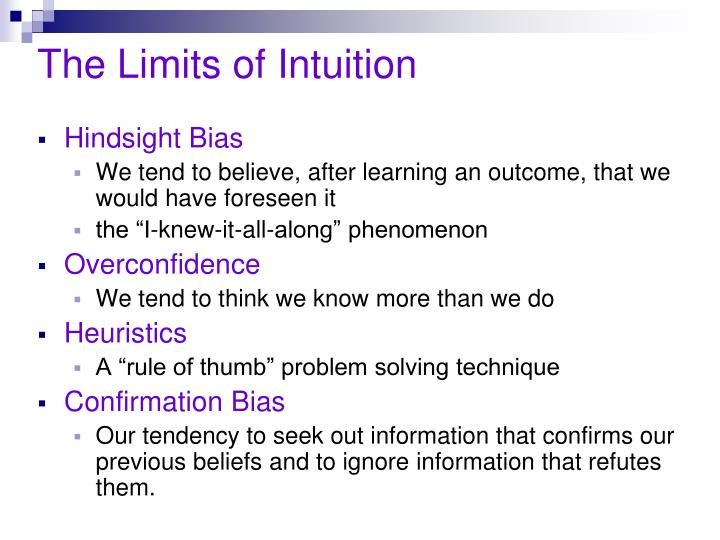 The limits of intuition