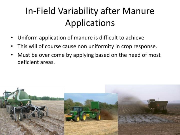 In-Field Variability after Manure Applications
