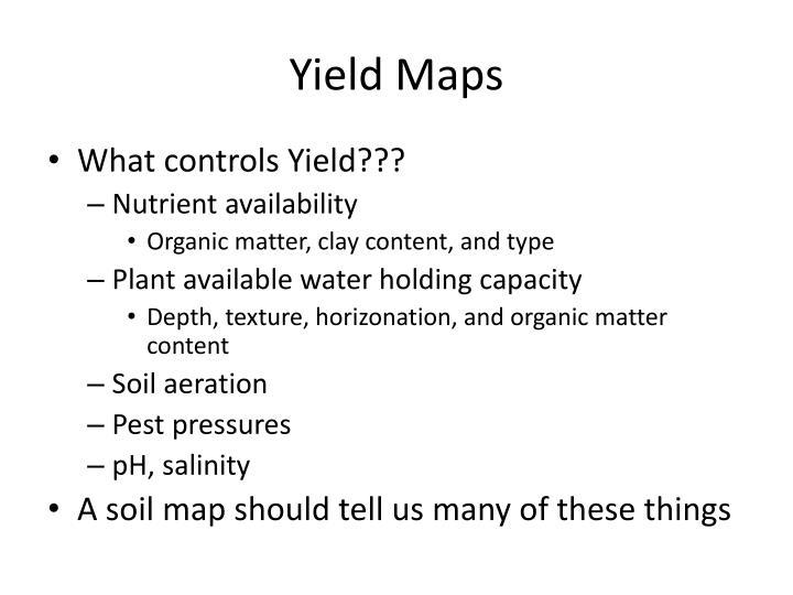 Yield Maps