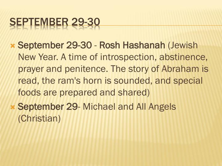 September 29-30