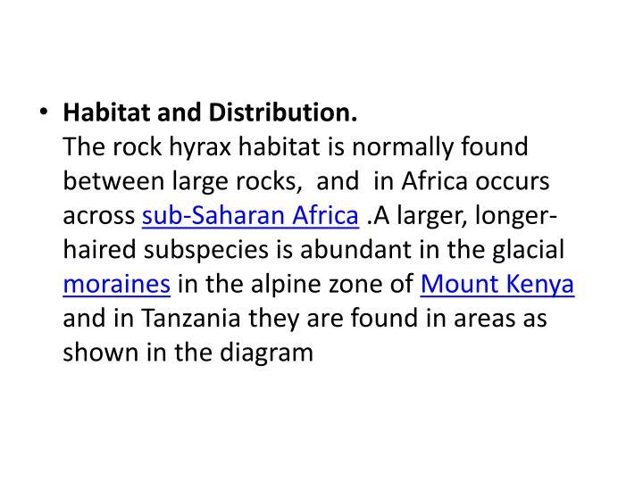 Habitat and Distribution.