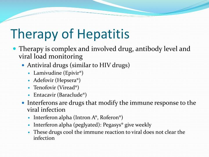 Therapy of Hepatitis