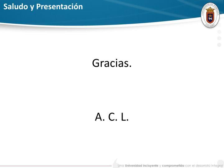 Saludo y Presentación