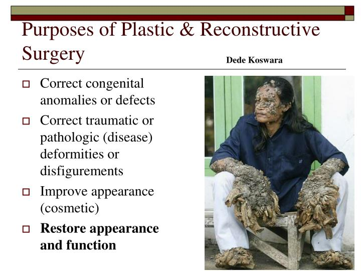 Purposes of Plastic & Reconstructive Surgery