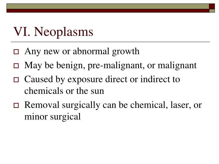VI. Neoplasms