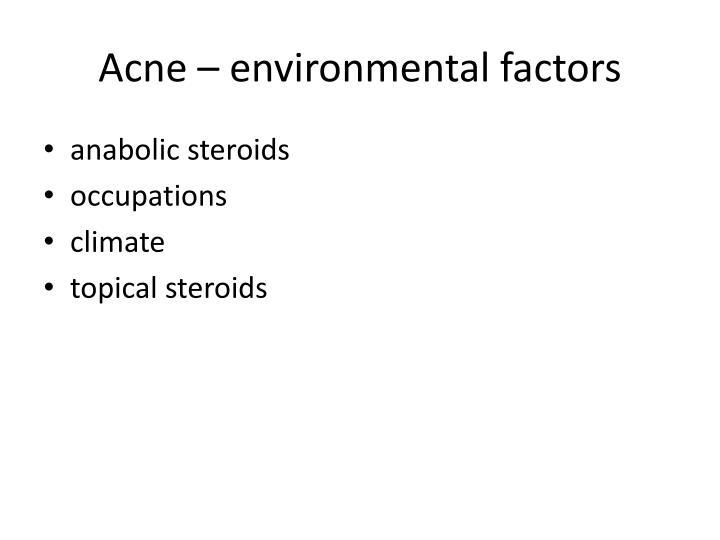 Acne – environmental factors