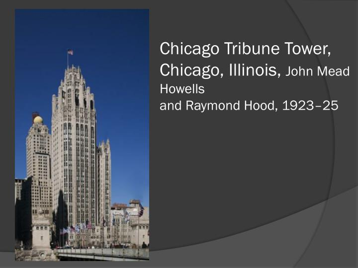 Chicago Tribune Tower,